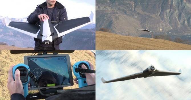 패럿의 새로운 드론, 디스코, 종이비행기 날리듯 하늘에 날리면 비행을 시작한다.  - parrot 제공
